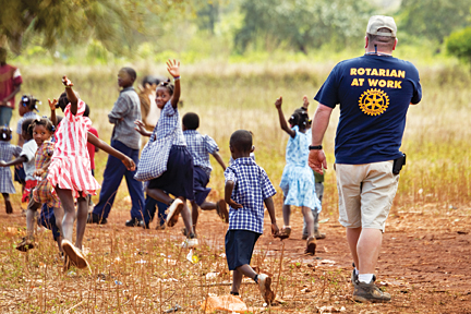 Rotarian in action